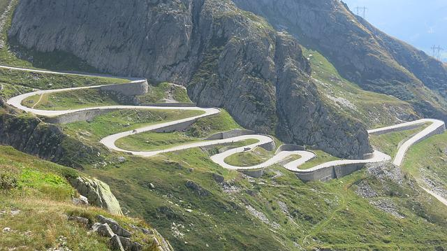 Gotthard, Tremolastrasse, Switzerland