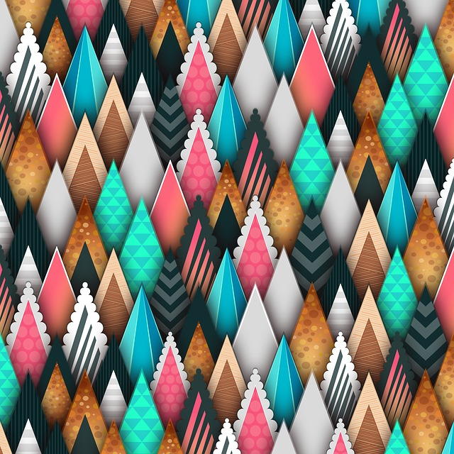 Background, Triangle, Colorful Abstract, Design