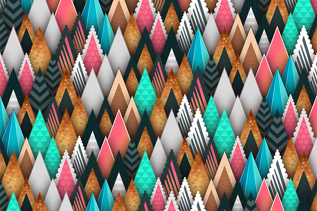 Background, Pattern, Abstract, Triangle, Colorful, Pink