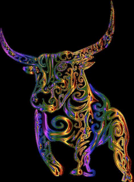 Tribal, Bull, Cow, Abstract, Line Art, Design, Tattoo
