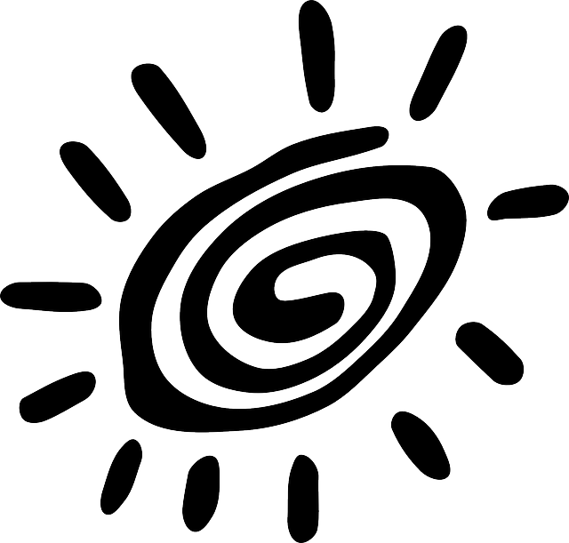 Sun, Petroglyph, Primitive, Spiral, Tribal, Summer