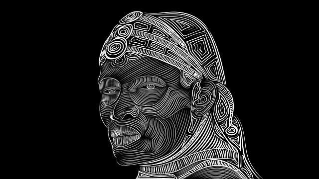 Maasai, Tribal, Drawing, Black, White, Tribe