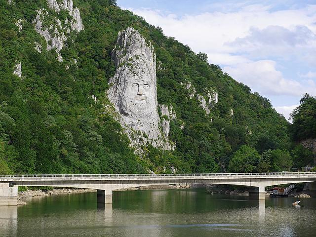 Relief, King Decebalus, Rock, Danube, Booked, Tributary