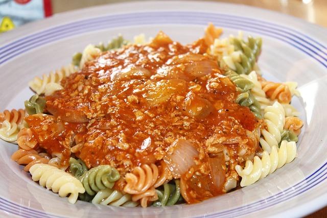 Tofu, Bolognese, Noodles, Tricolor, Meatless, Vegan