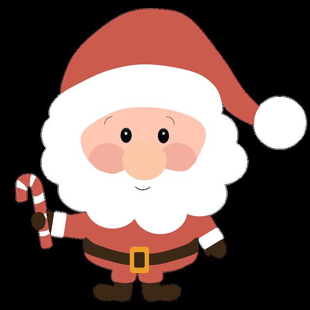 Santa Claus, Christmas, Winter, Cap, Trim
