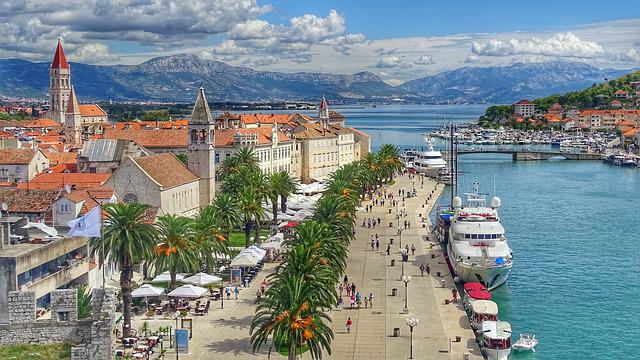 City, Sea, Architecture, Travel, Croatia, Trogir, Sky