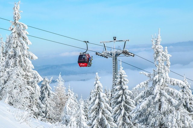 Gondola, Ski Resort, Trolley, Winter In The Mountains
