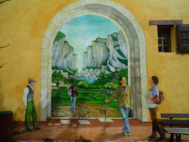Wall, Trompe L ' œil, Gates Canyon Of The Verdon Gorges