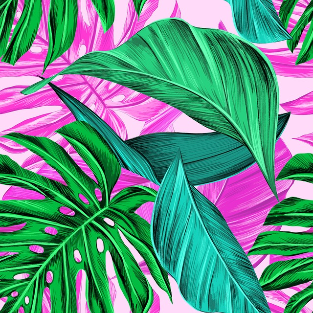 Tropical Greens, Monstera, Summer, Tropical, Green