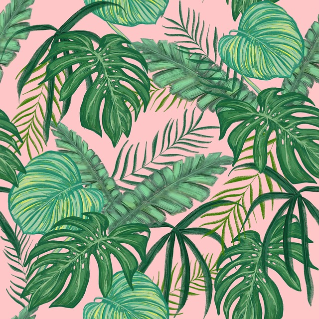 Tropical Greens, Leaves, Design, Wallpaper For Girls