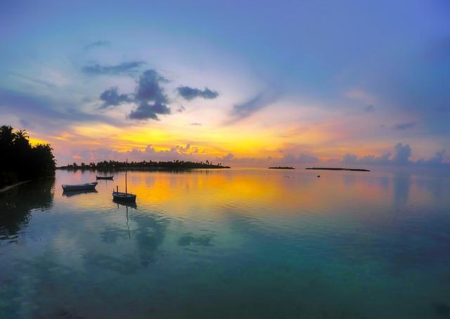 Sunset, Dusk, Sky, Clouds, Tropics, Tropical, Bay