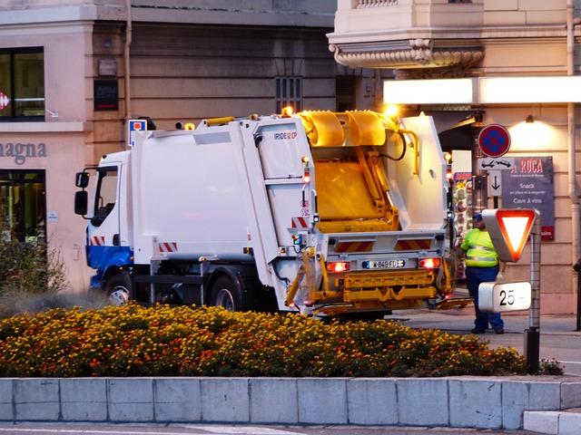 Street Cleaning, Garbage Disposal, Monaco, Truck