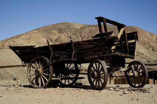 West, Usa, Desert, Old, Wood, Truck, Wagon, Western