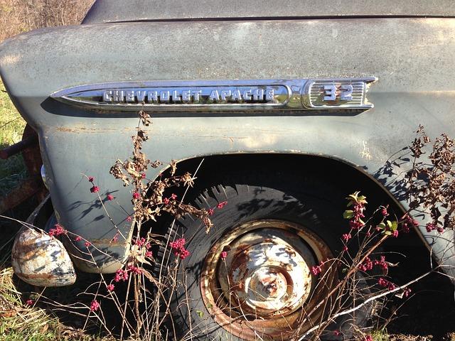 Old, Vintage, Truck, Wheel, Chevrolet, Apache, 32