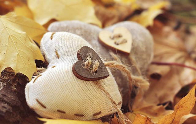 Heart, Autumn, Leaves, True Leaves, Wood, Background