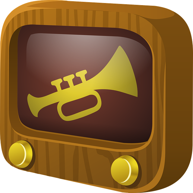 Tv, Screen, Trumpet, 1b, Television, Wood, Buttons, Old