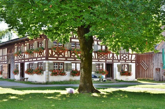 Farm, Building, Truss, Roof, Fachwerkhaus, Village