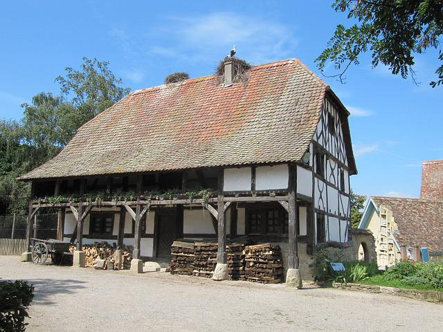 Ungersheim Ecomuseum, Truss, Building, Farmhouse