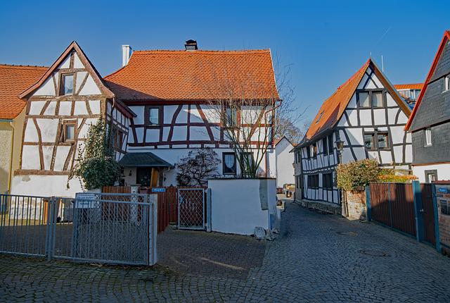 Oberursel, Hesse, Germany, Old Town, Truss