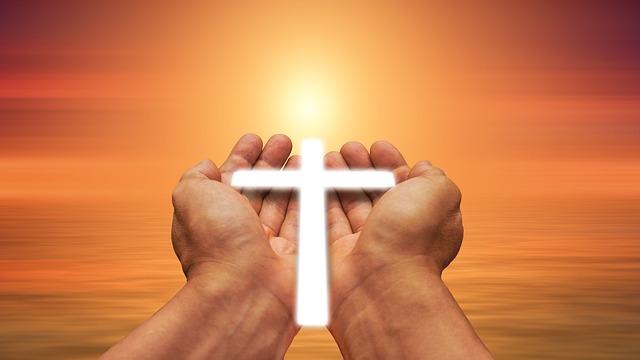 Free Photo Trust Hand God Faith Cross Light Pray Religion