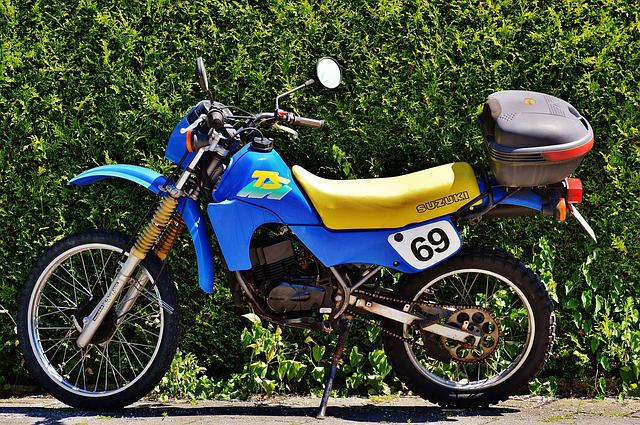 Moped, Enduro, Suzuki, Ts50xk, Motorcycle, Vehicle