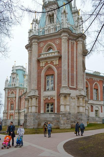 Tsaritsyno Catherine Palace Gothic Castle