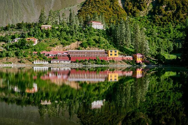 Lake, Temple, Mountain, Scenic, Tsokha Monastery