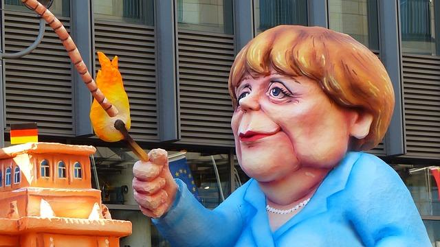 Angela Merkel, Ttip, Caricature, Show Me, Demonstration