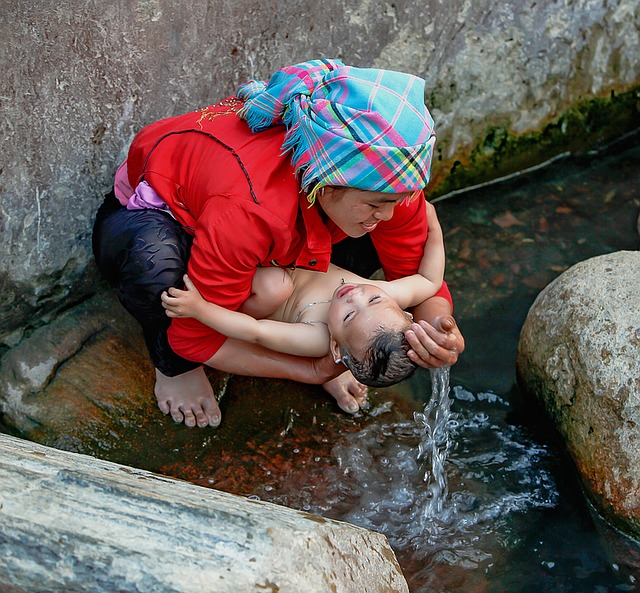 The Mother, The Son, Streams, Tu Rate, Yen Bai, Vietnam