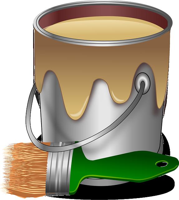 Paint, Color, Brush, Painter, Bucket, Tub, Pail