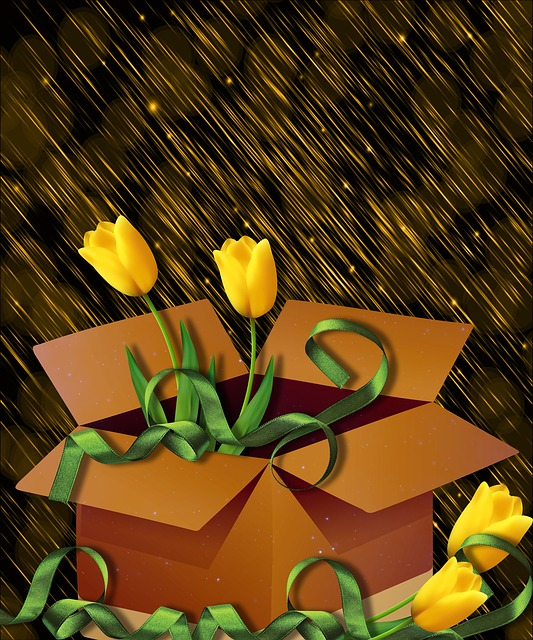 Design, Flowers, Box, Background, Romantic, Tulip