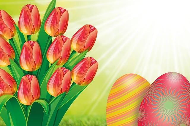 Tulip, Easter, Egg, Bouquet, Spring, Spring Awakening