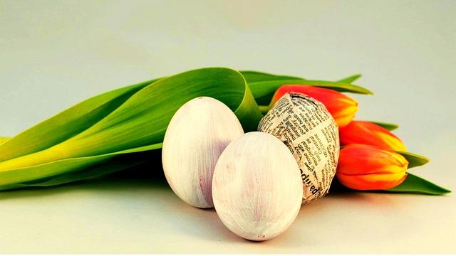Nature, Leaf, Flower, Tulips, Spring, Eggs, Easter