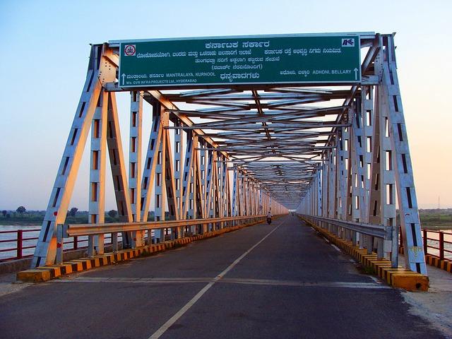 Bridge, River, Tungabhadra, Raichur, Karnataka, India