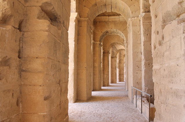 Tunisia, El Jem, Amphitheater, The Ruins Of The