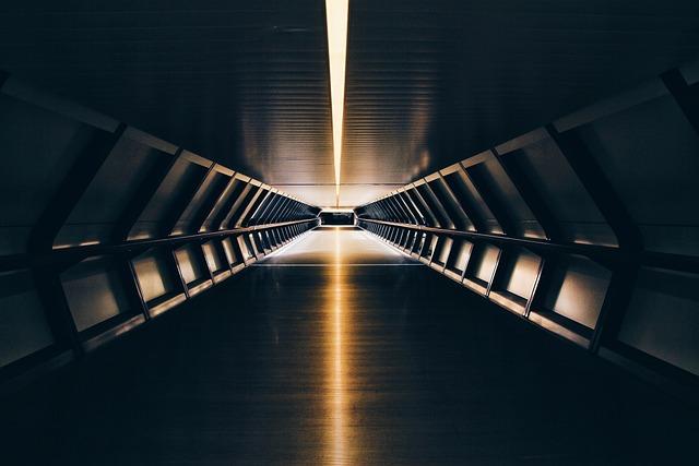 Tunnel, Dark, Night, Road, Light, Modern, Architecture