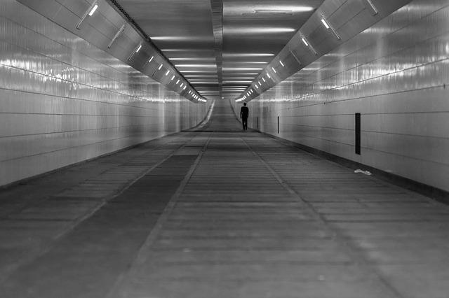 Pedestrian Zone, Rotterdam, Street, Tunnel, Walking