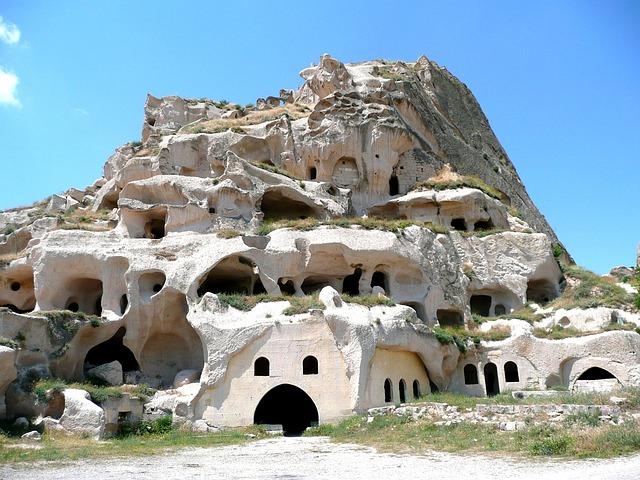 Uchisar, Cappadocia, Turkey, Inhabited, Troglodyte