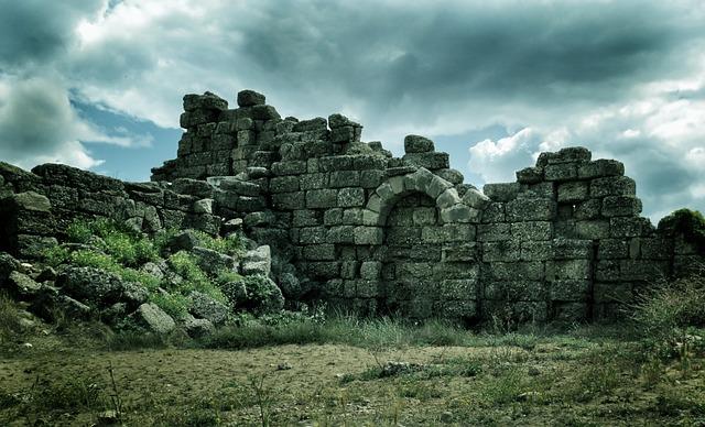 Ruin, Side, Turkey, Turkish Riviera, Antiquity