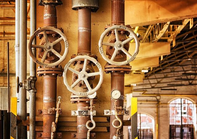 Wheel, Valve, Heating, Line, Turn, Industry