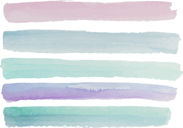 Watercolour, Pink, Violet, Purple, Turquoise, Cosmetics