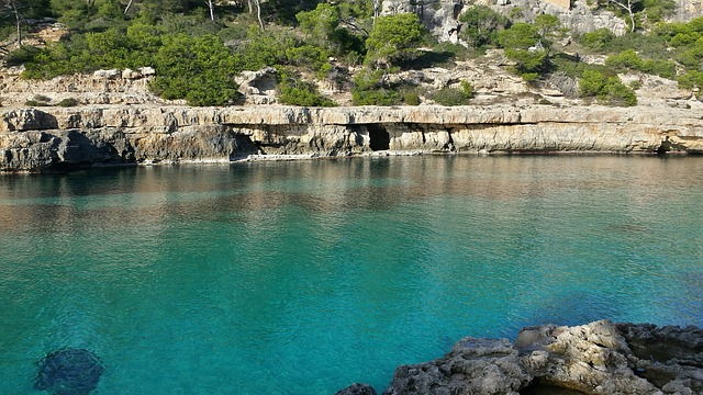 Mallorca, Turquoise, Sea, Rock