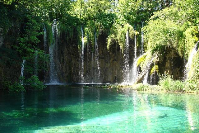Plitvice Lakes, Water, Turquoise, Waterfall