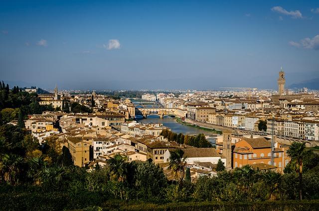 Florence, Tuscany, Italy, Arno, River