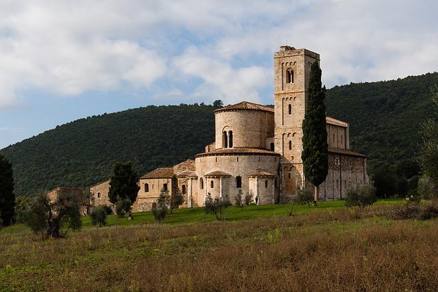 Tuscany, Prato, Abbey, Baptistery, Sky, Landscape