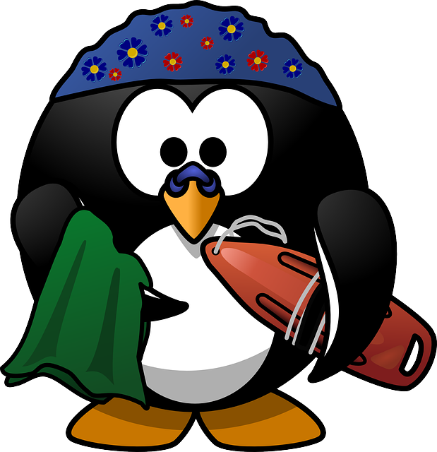 Linux, Tux, Activity, Beach, Buoy, Clip, Dive, Diving