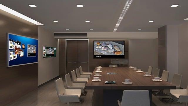 Interior Design, Tv, Multi-screen, Office