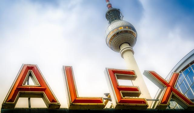 Berlin, Alex, Alexanderplatz, Tv Tower, Perspective