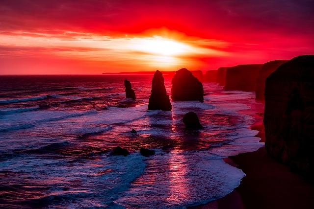 Twelve Apostles, Australia, Rocks, Stones, Coastline