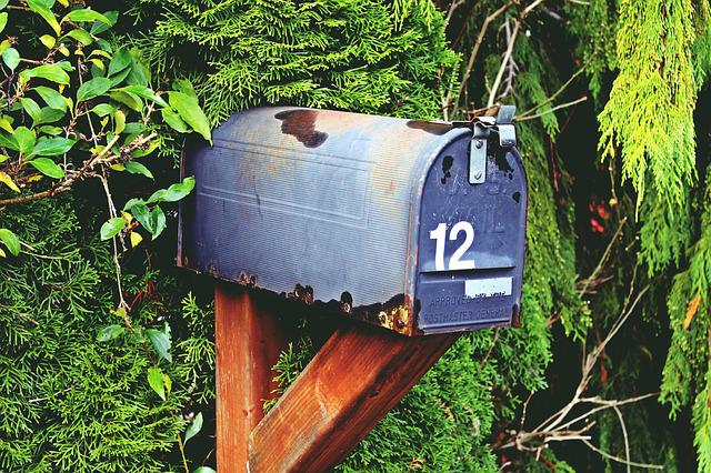 Mailbox, Number, Twelve, Letter Boxes, Post Mail Box